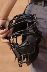 Softball umpire's face mask